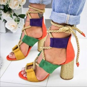 Shoes - Amazing multicolored heels